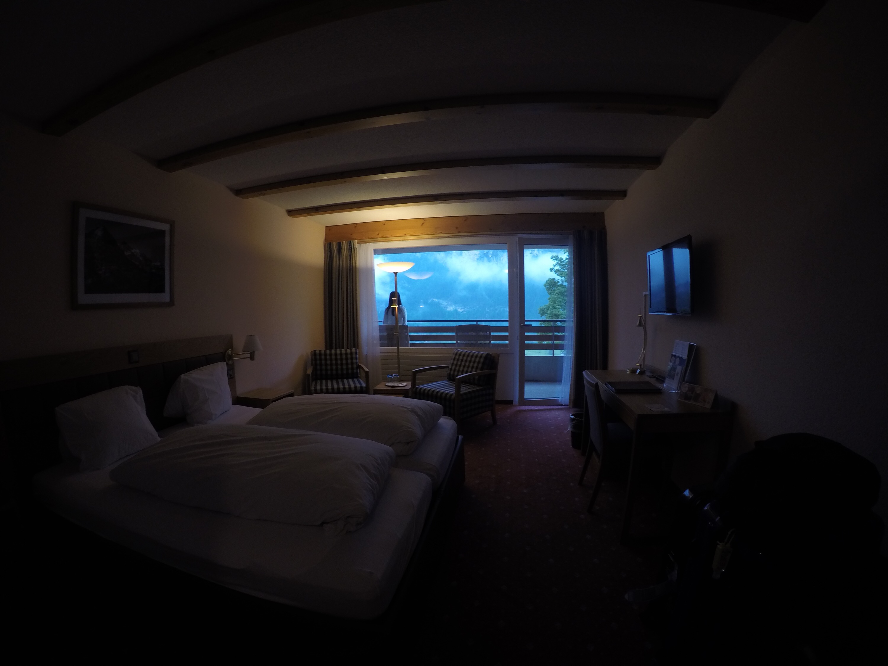 Room is awesome with view of the Alps!!!