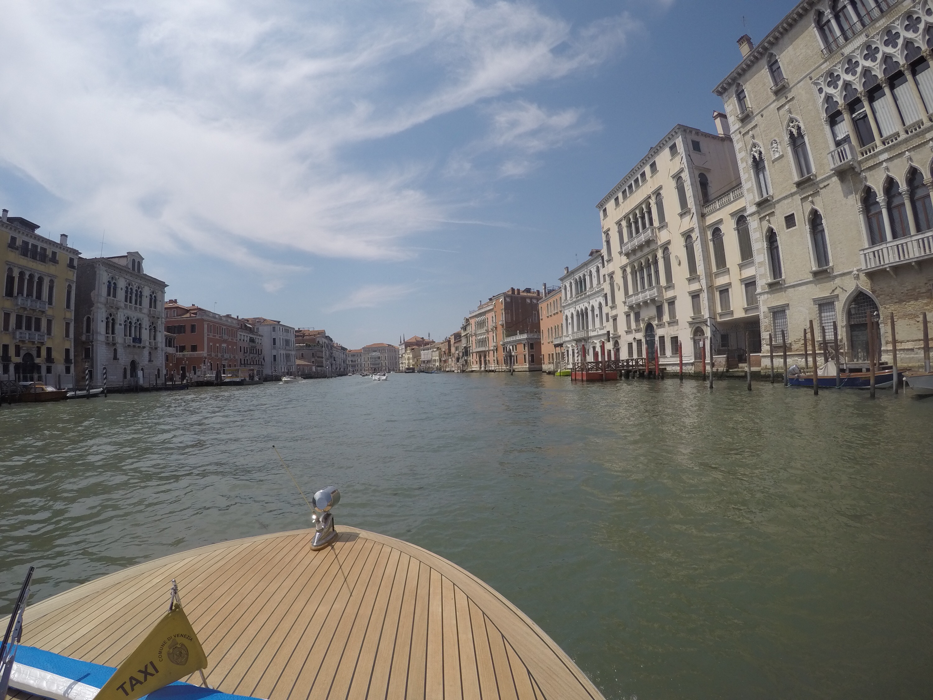 Exploring Canal Grande on a yacht!