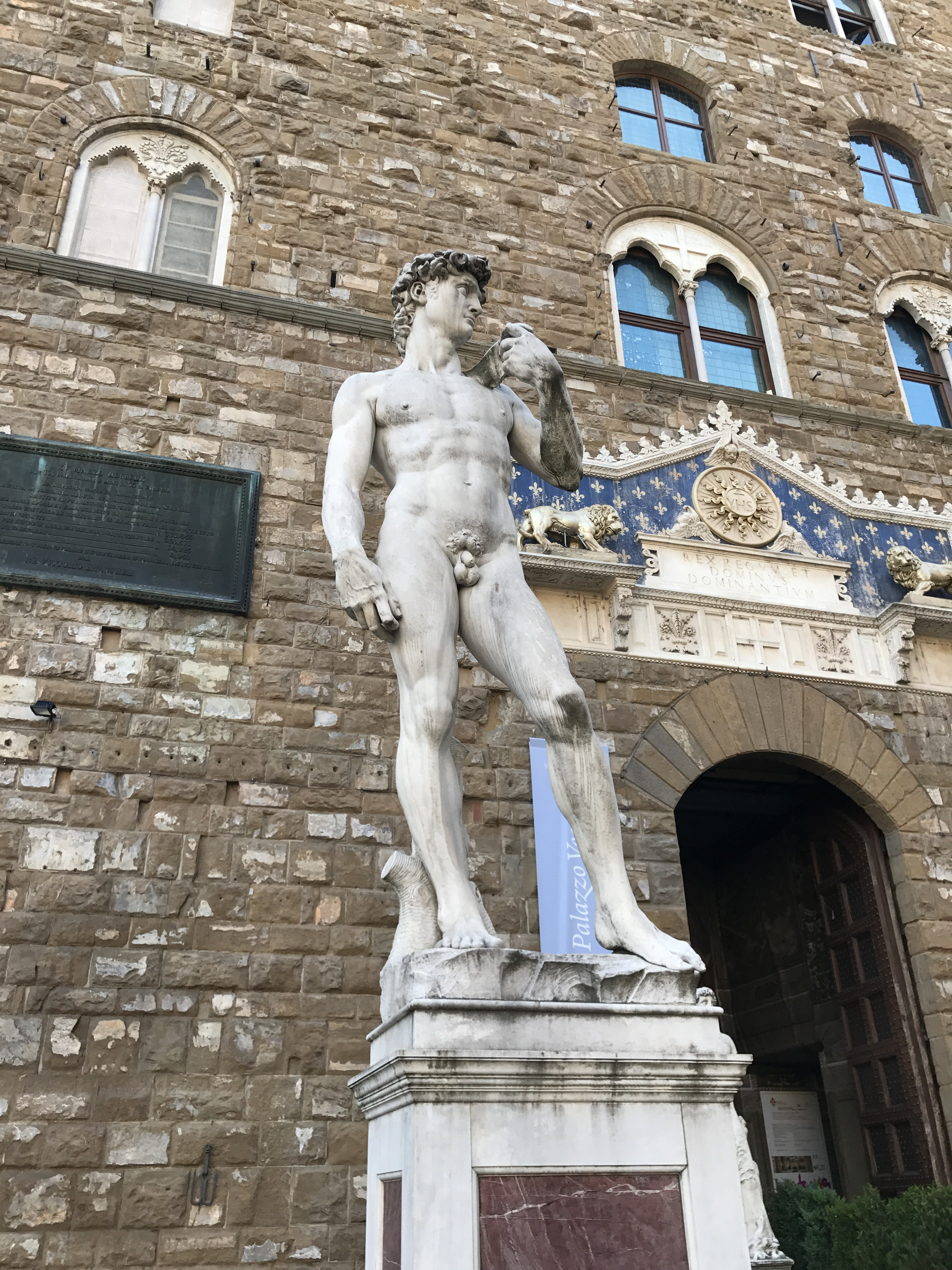 I finally get to meet David!!!  Inspired by David and Goliath! Not to be afraid to take down people bigger, stronger than you are.    Statue by Michelangelo shows him in position to use the sling against Goliath!