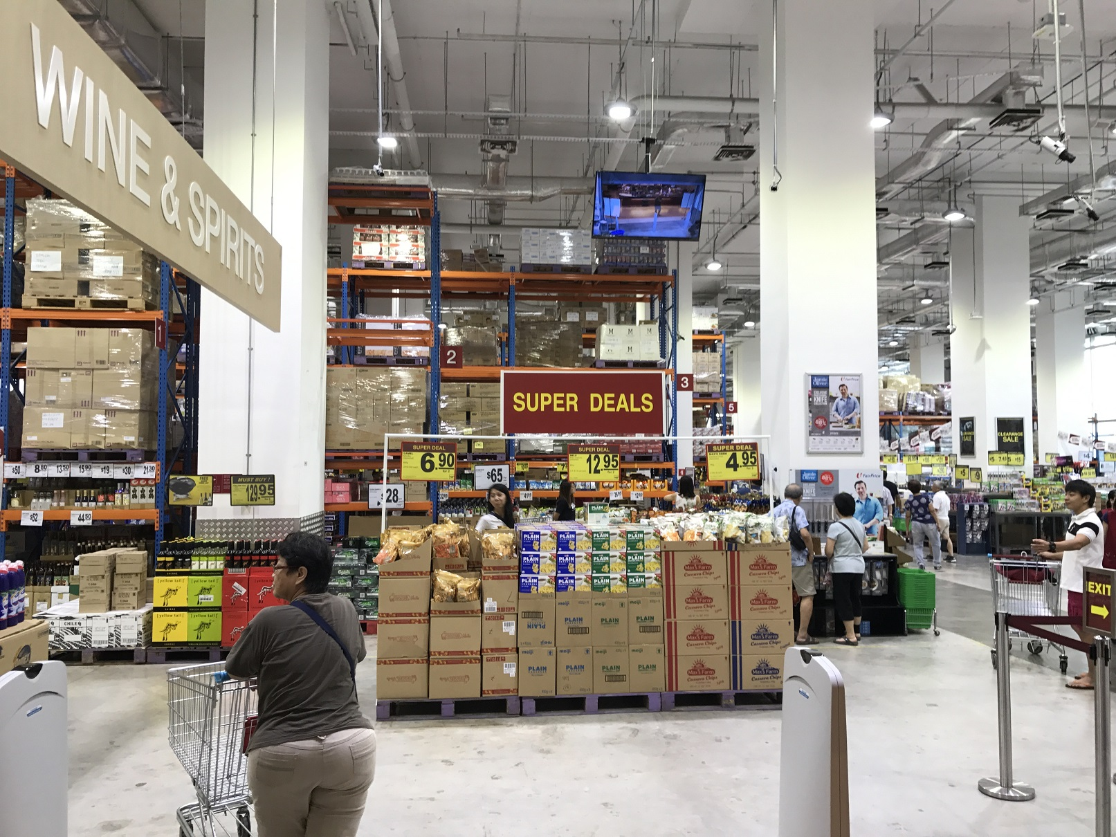 Checking out the NTUC warehouse club!