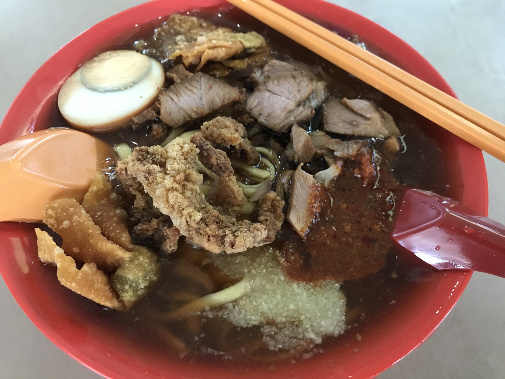 Lunch is my favorite lor mee!