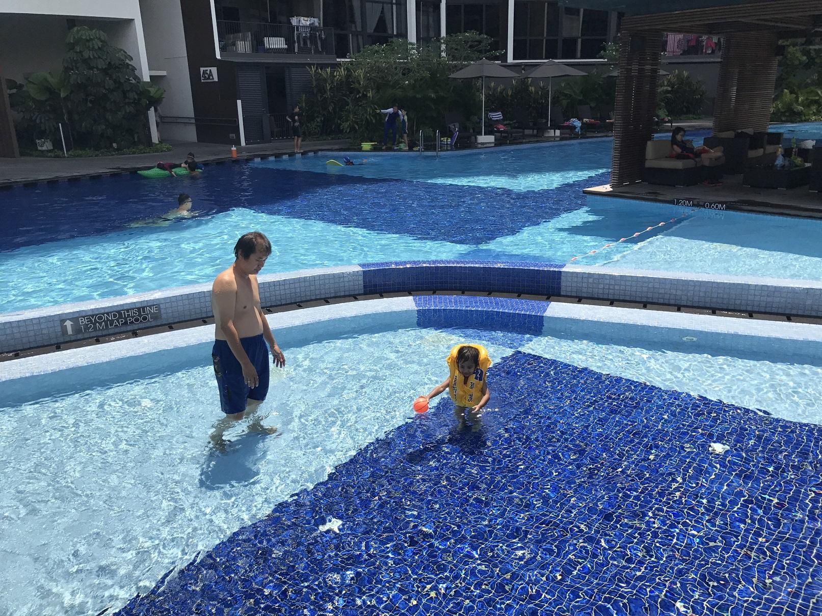 Niece having fun in the pool!