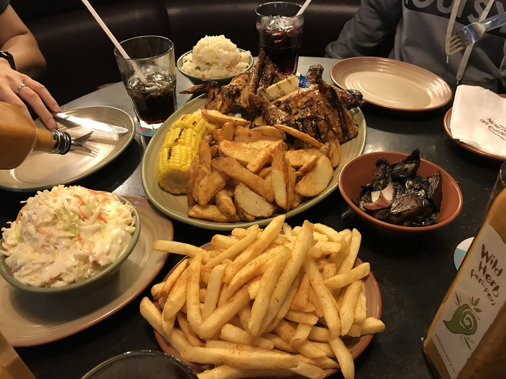 Nandos potato overload!