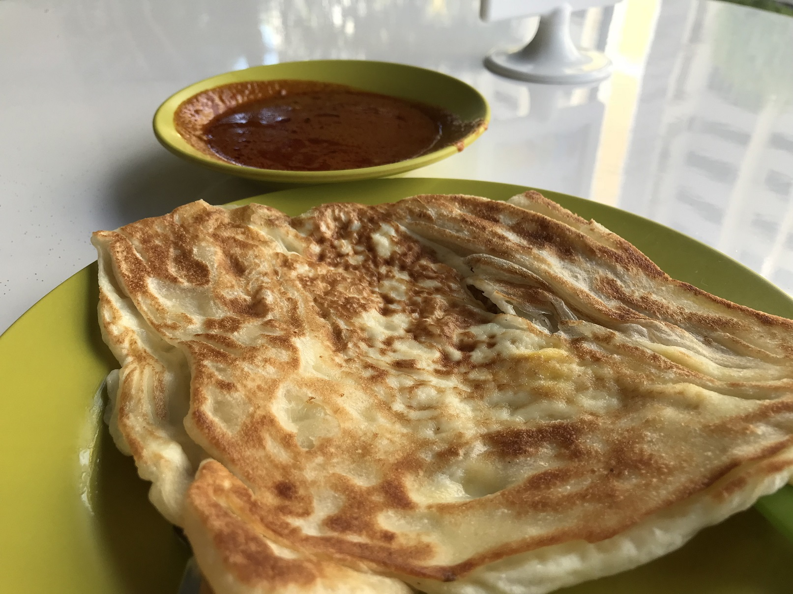Then some roti prata (an hour and a half later)...