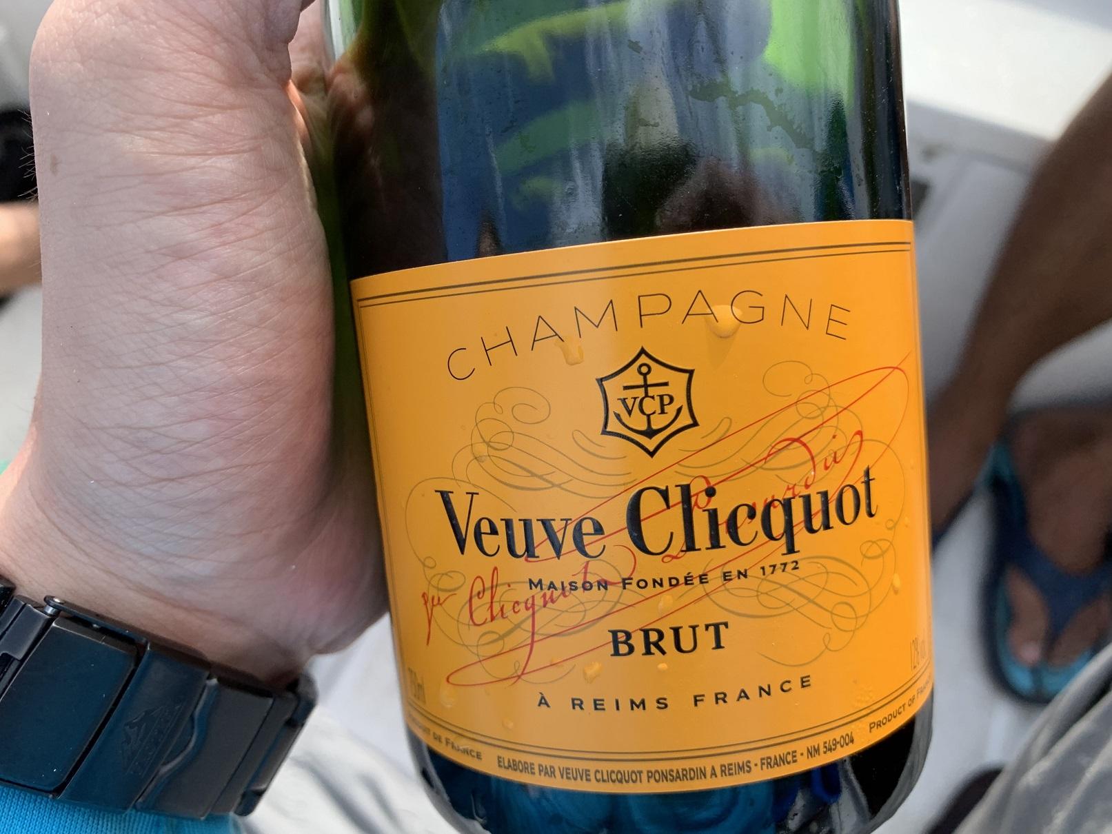 Manda recommended Veuve Champagne!