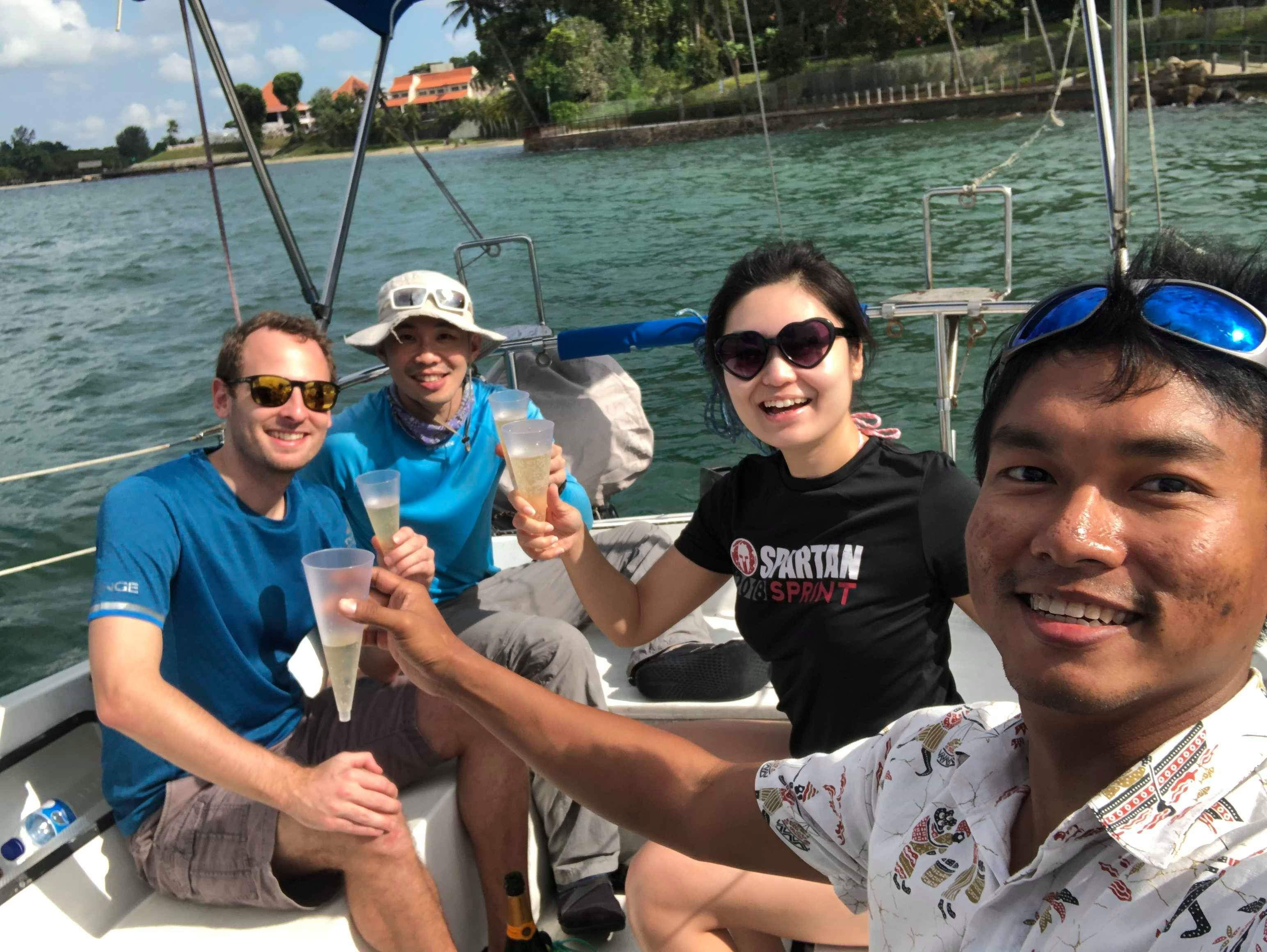 Sailing with friends!