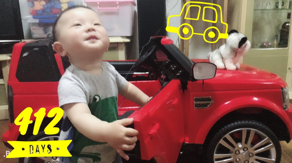 Lucas Day 412, proud of his new Land Rover!