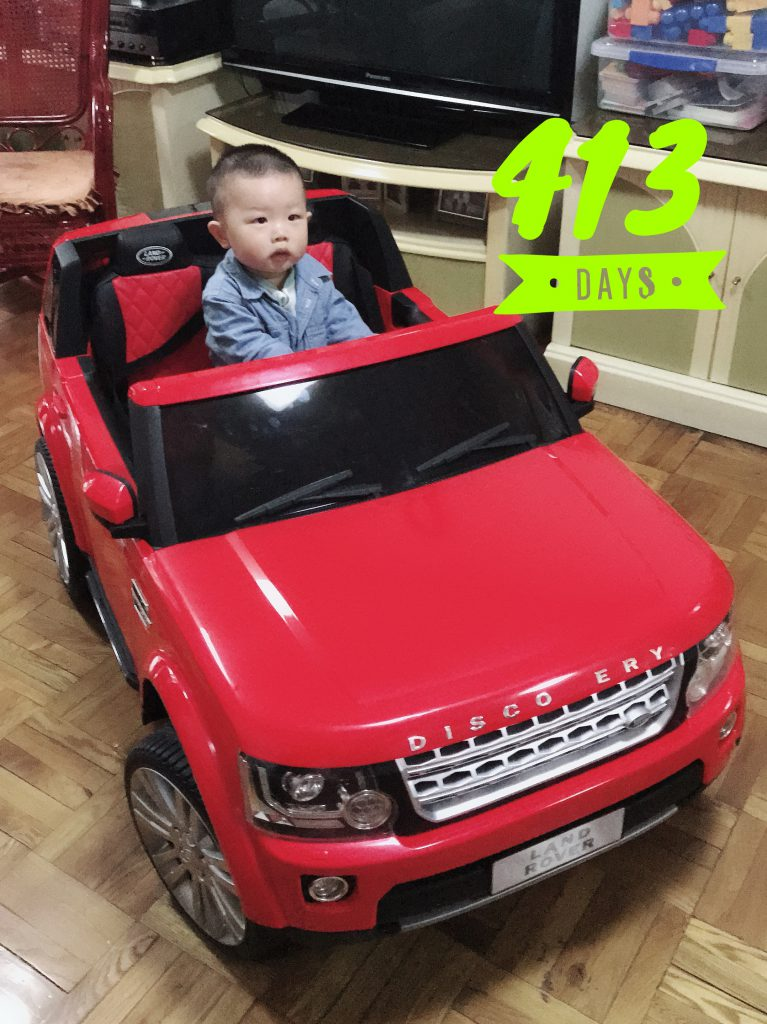 Lucas Day 413! Playing in his Land Rover!