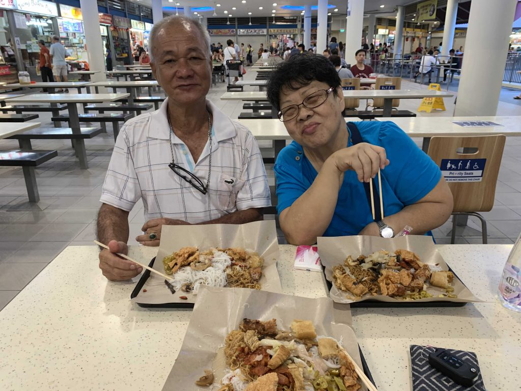 Vegetarian breakfast with Mum and Dad at Tiong Bahru Market!