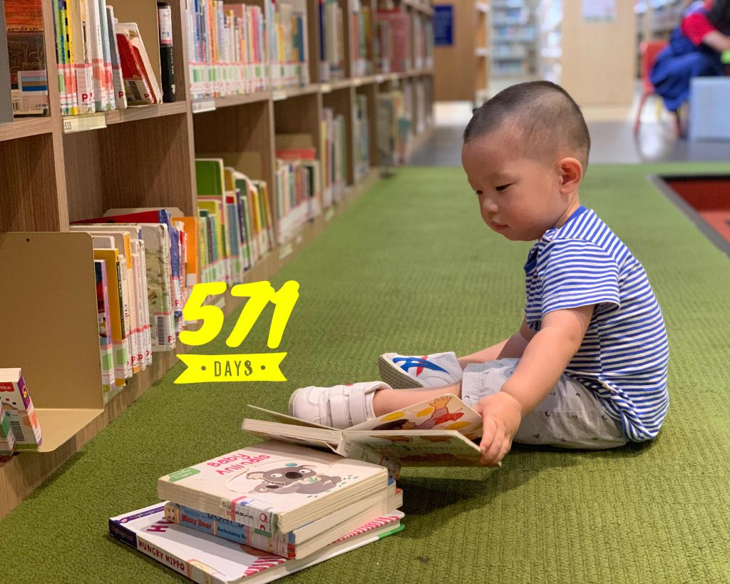 Lucas Day 571, at the library!