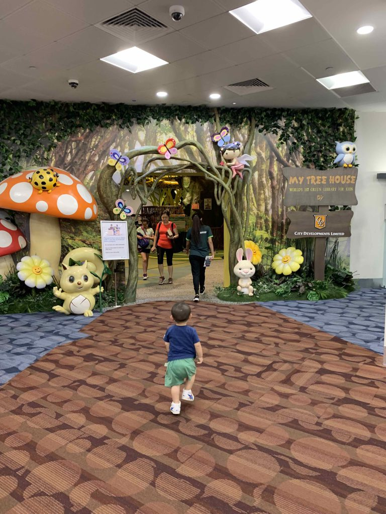 Running into the children section!