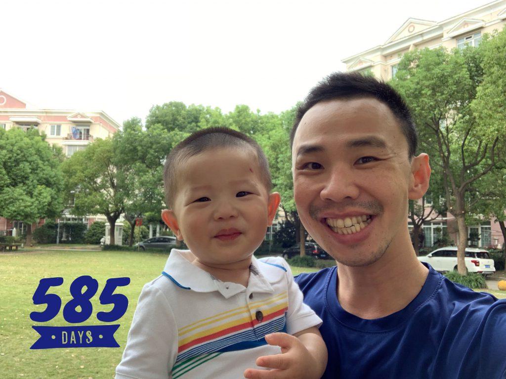 Lucas Day 585, the short walk to school!
