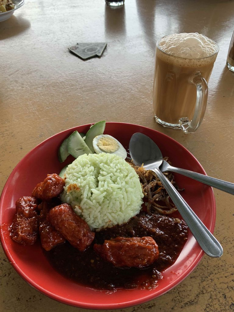 """Local breakfast at nearby """"coffeeshop"""" rm5.5 for the meal!"""