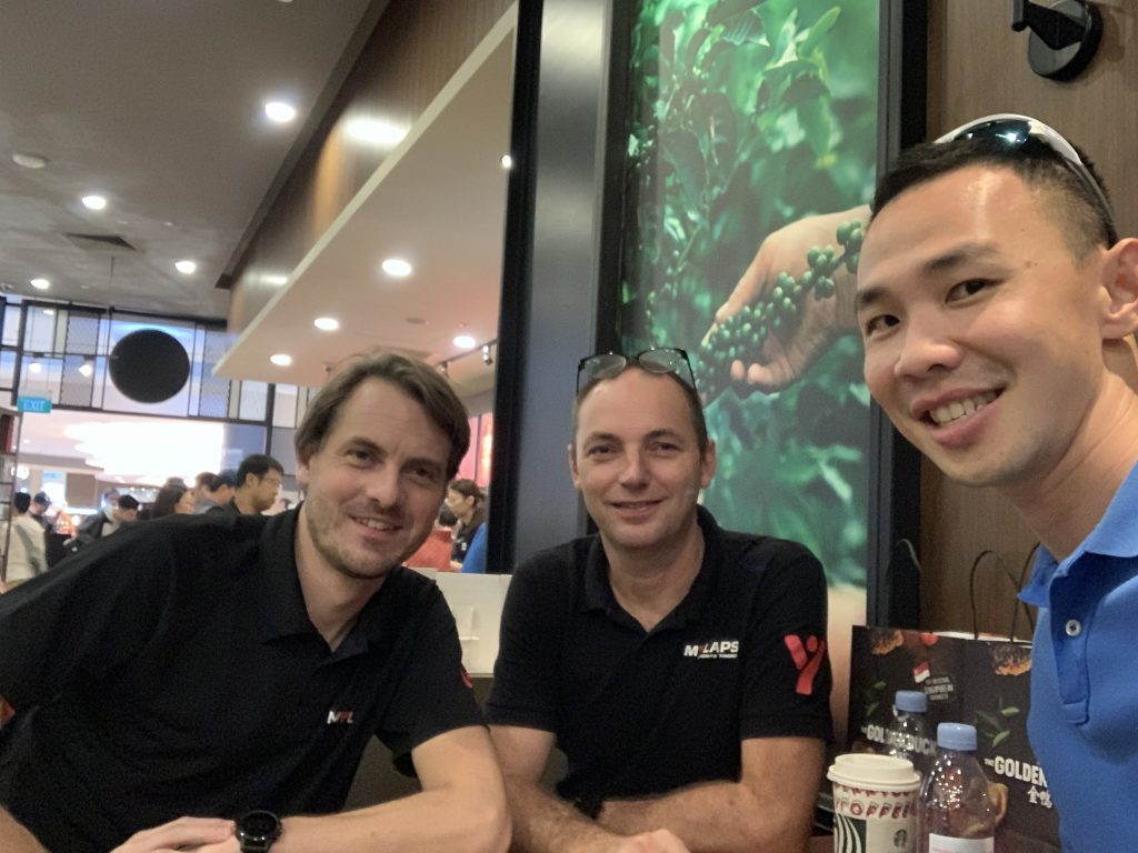 Meeting with Raymond and Daniel from Mylaps!