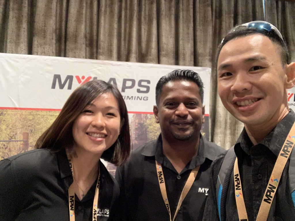 Meeting Shashi and Su Tien from Mylaps!