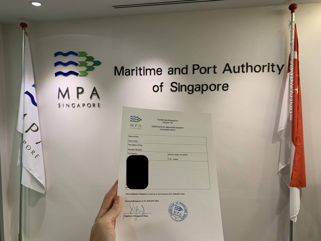 Finally got the boat Singapore Flagged!