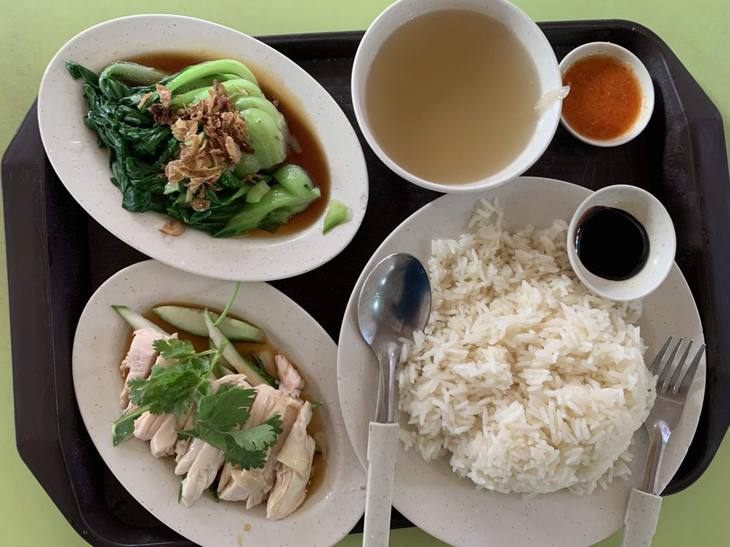 Honest Dinner finally at a hawker centre but expensive and not nice... sigh!