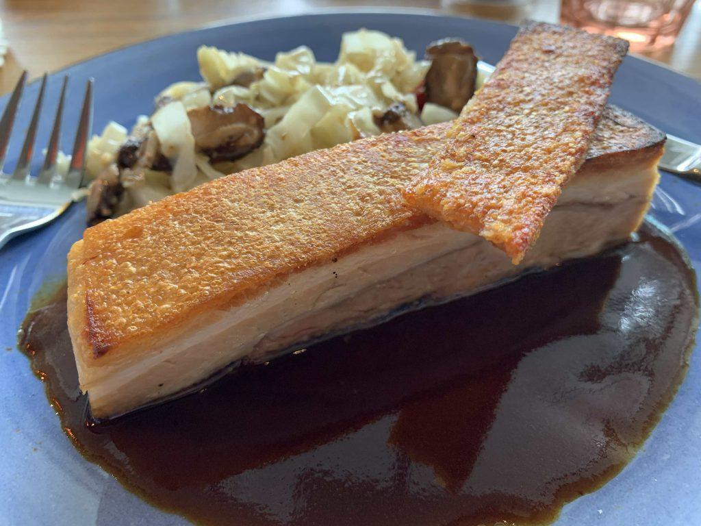 Crispy pork belly! Thanks boss for the treat!