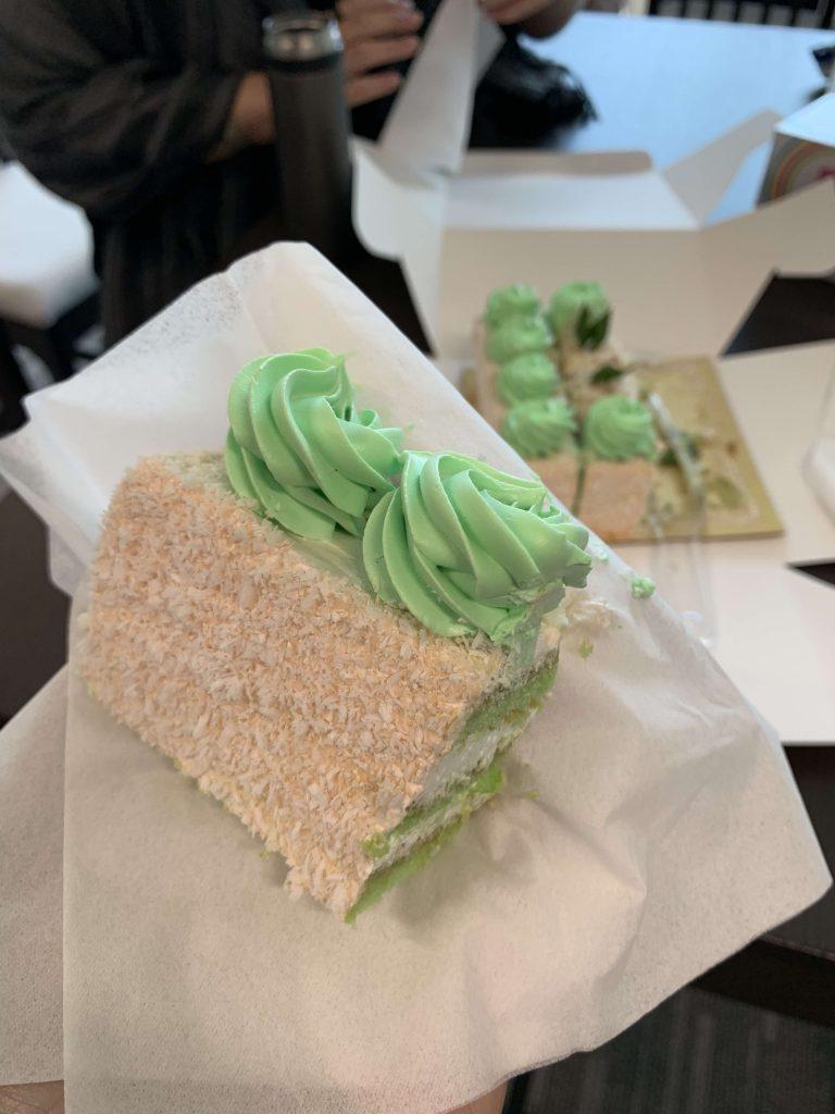 Coconut cake from Hotel! The Gula Melaka tastes really good!