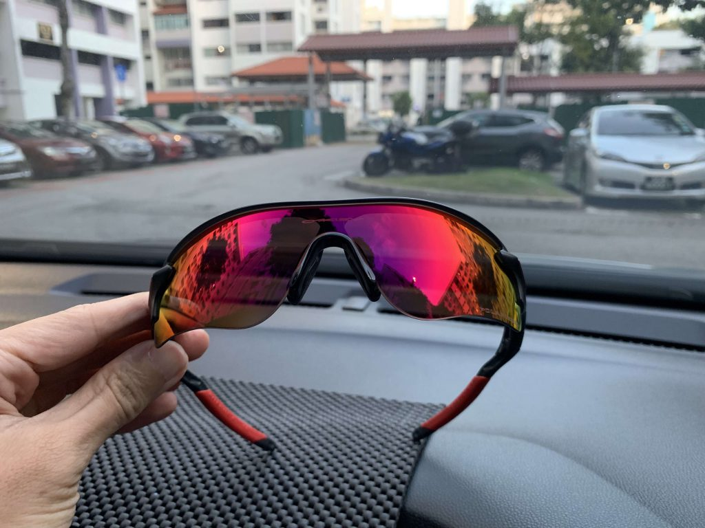Almost new pair of Oakley Radarlock with polarised lens at $100 is a steal!