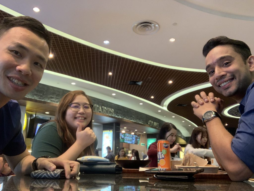 Lunch with Kiran and Esther!