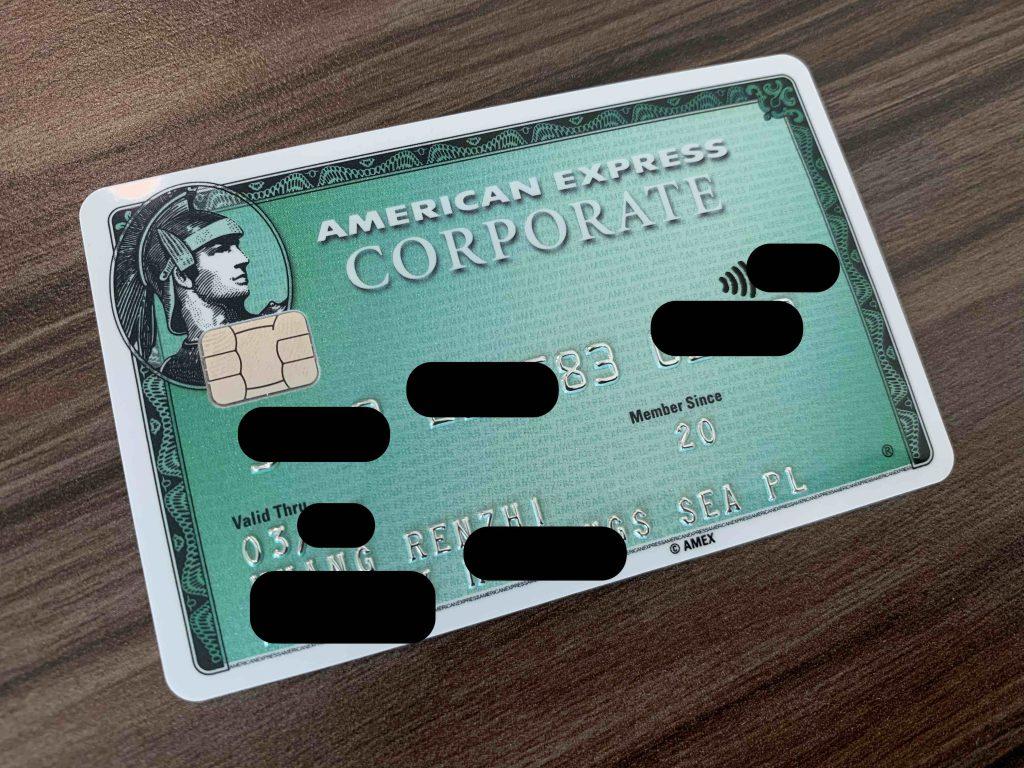 Amex Corporate Card!