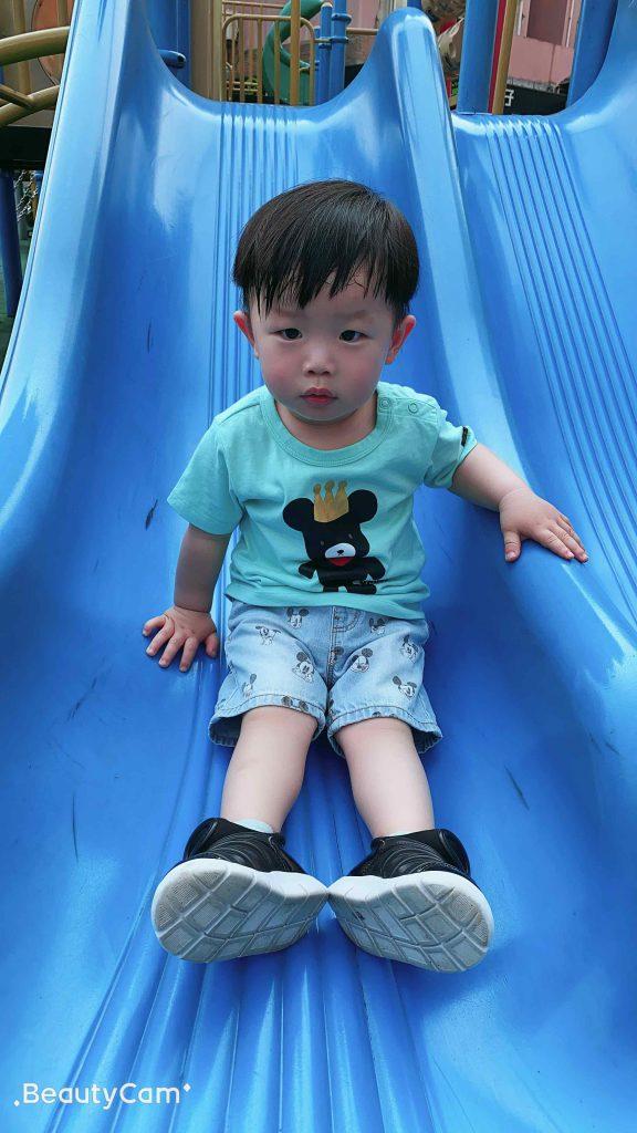 Lucas on the slide!
