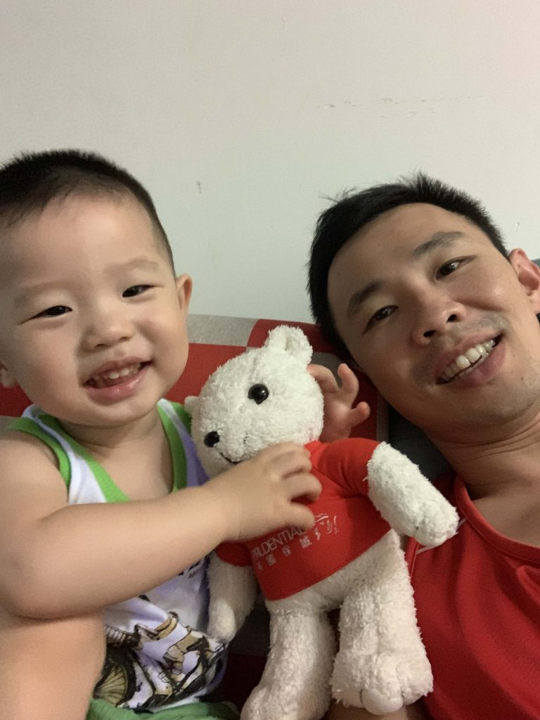 Playing with Daddy...