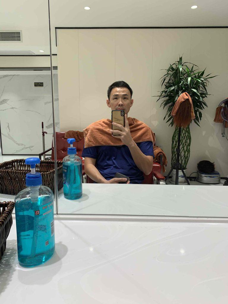 Cutting my hair!