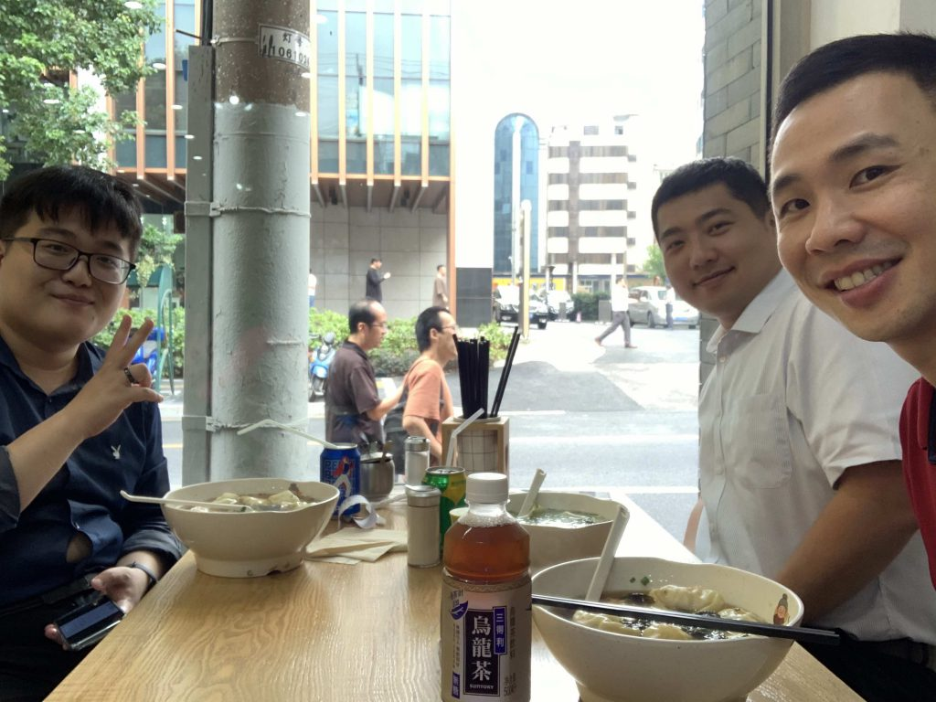 Lunch with Xiaoyang and Guanhao! Nice to work with them!