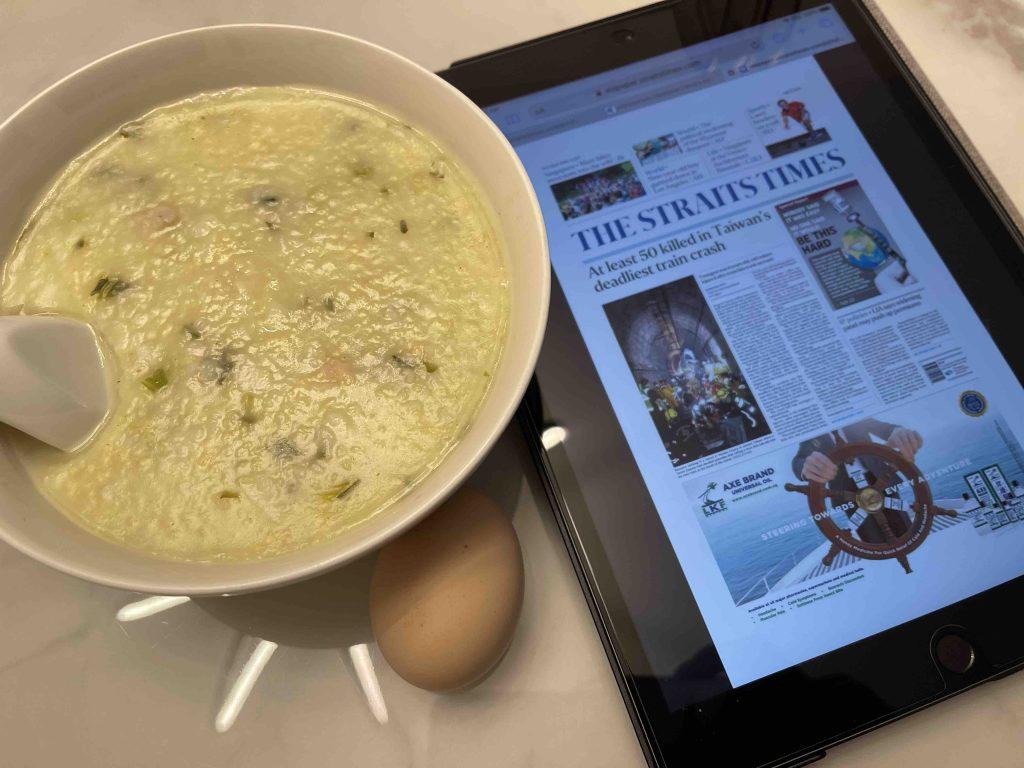 Porridge, Egg and (sad) news...